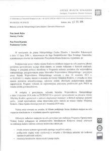 Odpowiedź Prezydenta Miasta Krakowa