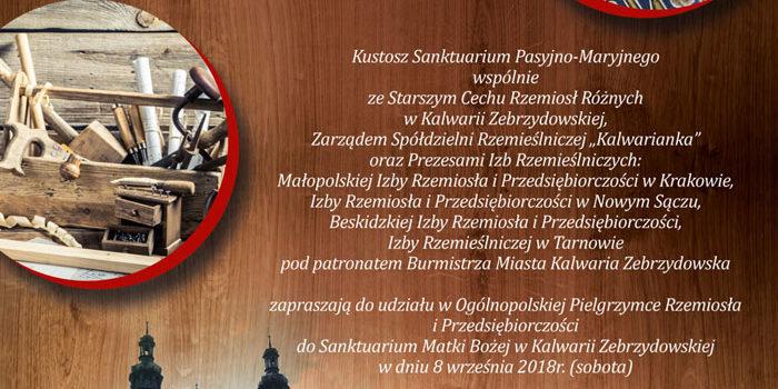 XIII Pielgrzymka Rzemiosła i Przedsiębiorczości – Kalwaria Zebrzydowska – 8 wrzesień 2018
