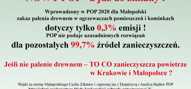 Zastrzeżenia i analiza błędnych założeń do POP 2020